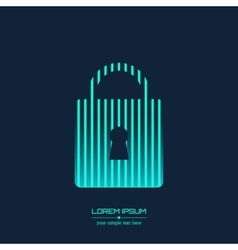 Creative concept icon of padlock for Web vector image vector image