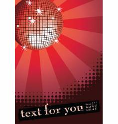 disco ball on red vector image