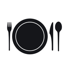 Disposable tableware icon vector