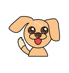 draw dog animal comic vector image