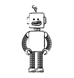 Electric robot toy isolated icon vector