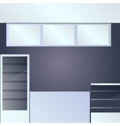 Foodcort interior vector image vector image