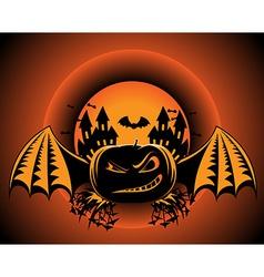 Halloween pumpkin label vector image