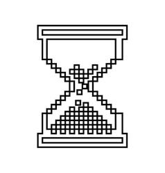 hourglass pixelated isolated icon design vector image