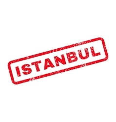 Istanbul text rubber stamp vector