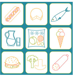 listeria contaminated food vector image vector image