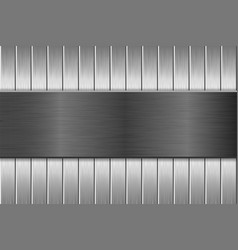 Metal brushed texture with vertical brushed planks vector