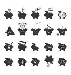 piggy bank symbol of money finance investment vector image