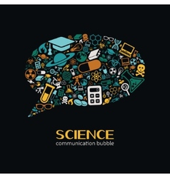 science communication bubble vector image vector image
