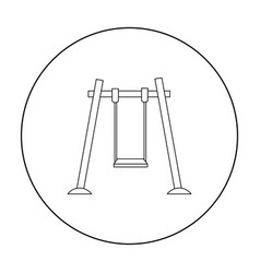 Swing icon in outline style isolated on white vector