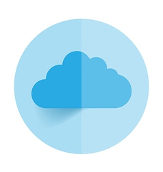 This image is a representing a cloud vector image vector image