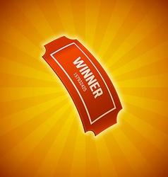 winner lottery ticket eps 10 vector image vector image