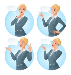 Set of cartoon business formal dressed vector