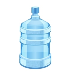 Cooler water bottle isolated on white vector