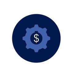 In flat design of cogwheel vector