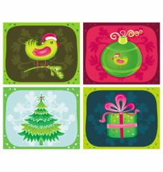 Christmas cards sets vector