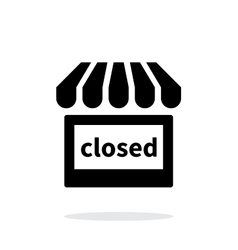 Shop closed icon on white background vector image