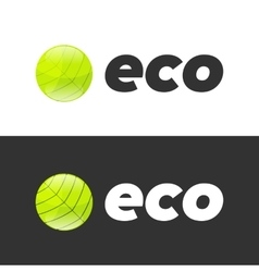 Eco bin icon vector