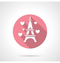 Love tour round pink icon vector