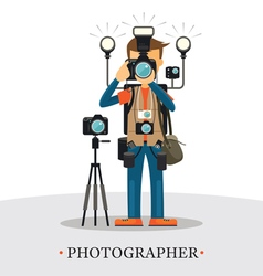 Super equipment photographer vector