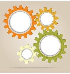 Abstract color gear wheels vector