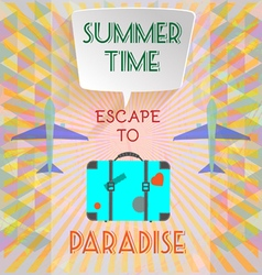 Abstract summer time infographic with book vector