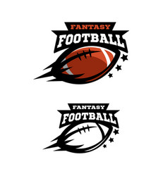 american football fantsy two options logo vector image vector image