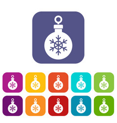 Ball for the christmas tree icons set vector