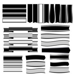 black and white ribbons and banners vector image
