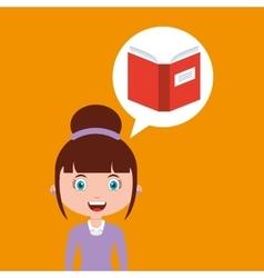 Book education online design girl vector