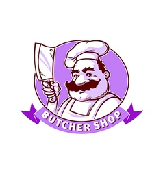 Butcher shop emblem vector