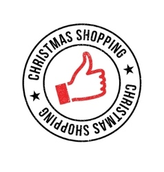 Christmas shopping rubber stamp vector
