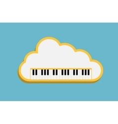 cloud Piano keys vector image