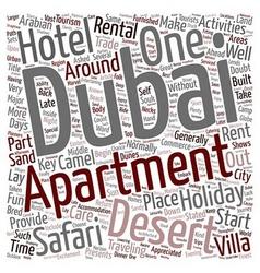 Dubai s great desert safari text background vector