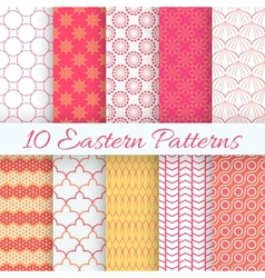 Eastern seamless pattern set vector