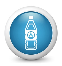 Flammable bottle glossy icon vector image vector image