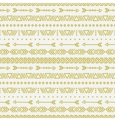 Hand drawn gold geometric ethnic seamless pattern vector image vector image