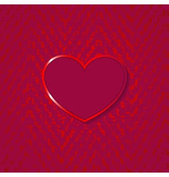heart for valentines day on grunge background vector image vector image