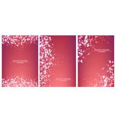 heart pink set design vector image vector image