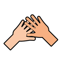 helping hands human icon vector image
