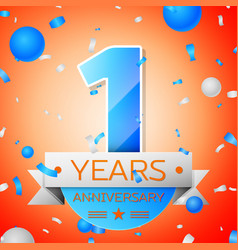 One years anniversary celebration vector
