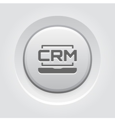 Online crm system icon grey button design vector