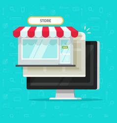 online shop on computer flat vector image vector image