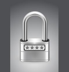 Padlock password icon gray background vector