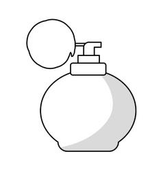 Retro fragrance bottle vector