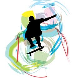 Skater boy vector image