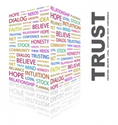 trust vector image vector image