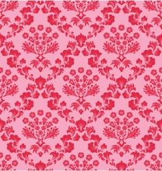 vintage damask pattern vector image