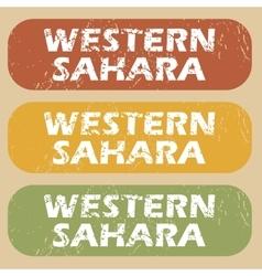 Vintage western sahara stamp set vector