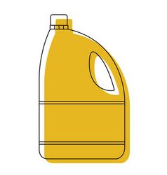 Yellow watercolor silhouette of bleach clothes vector